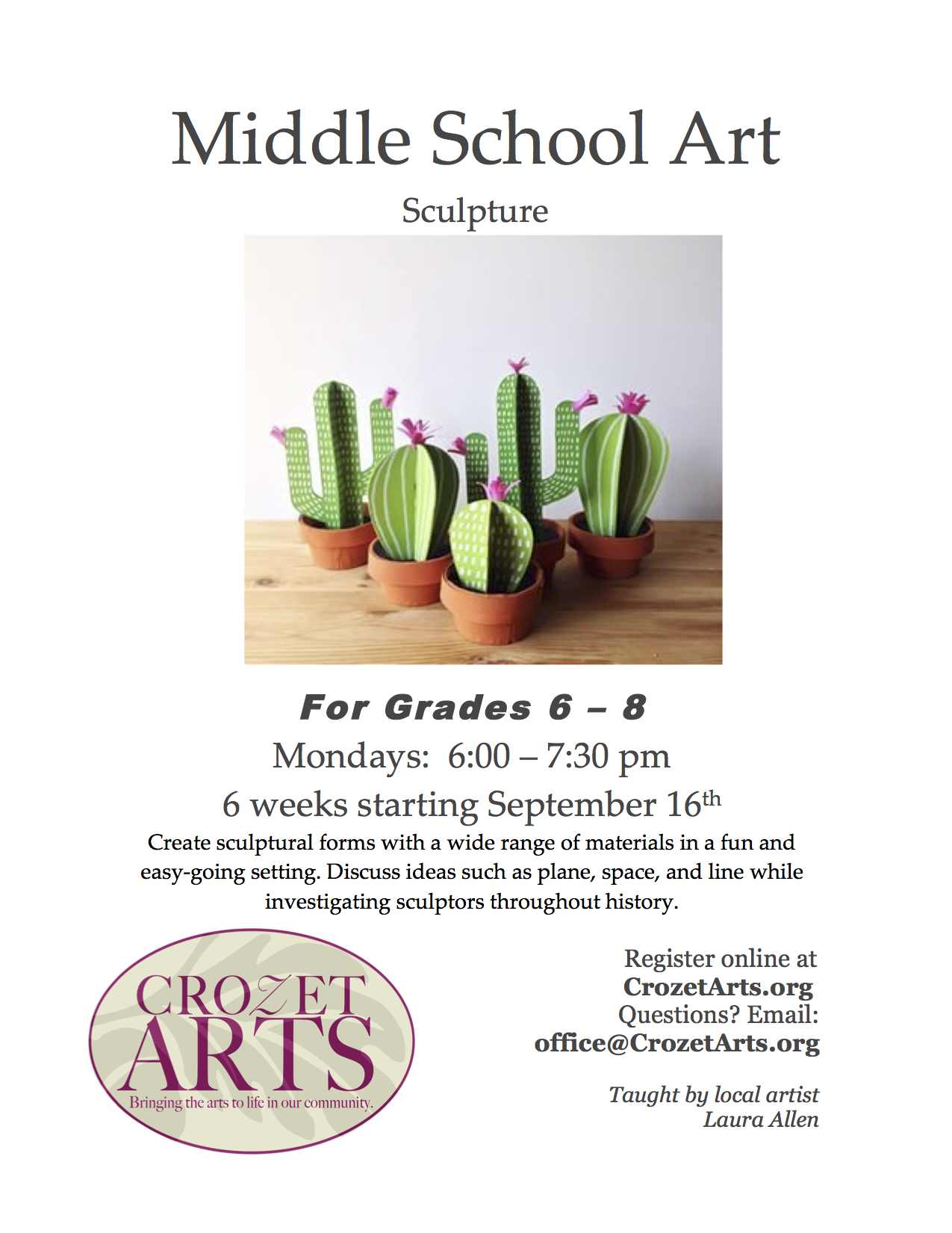 middle school art fall 2019